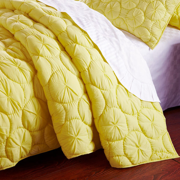 Dream Waltz Luxury Pure Cotton Lemon Quilt - Calla Angel  - 2