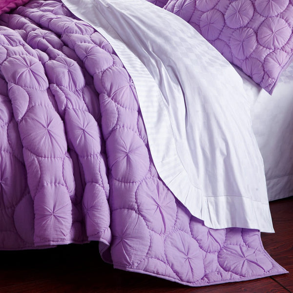 Dream Waltz Luxury Pure Cotton Lavender Quilt - Calla Angel  - 2