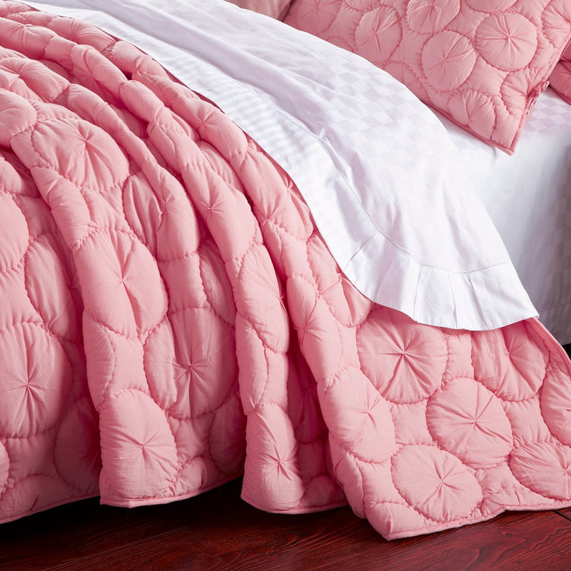Dream Waltz Luxury Pure Cotton Cameo Pink Quilt - Calla Angel  - 2