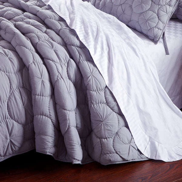 Dream Waltz Luxury Pure Cotton Silver Sand Quilt - Calla Angel  - 2