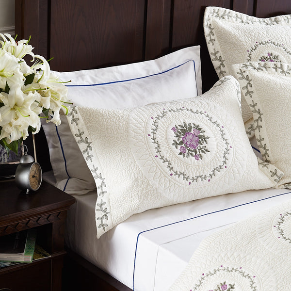 Fontainebleau Pure Cotton Quilt Set By Calla Angel, 3 Piece