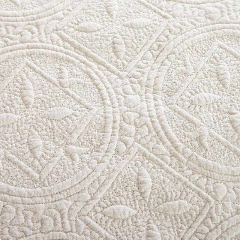 Sage Garden Luxury Pure Cotton Ivory Quilt - Calla Angel  - 6