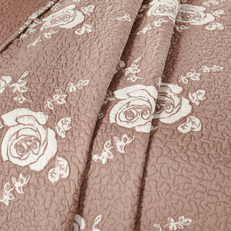 Rose Melody Luxury Hand Made Pure Cotton Marsala Quilt - Calla Angel  - 4