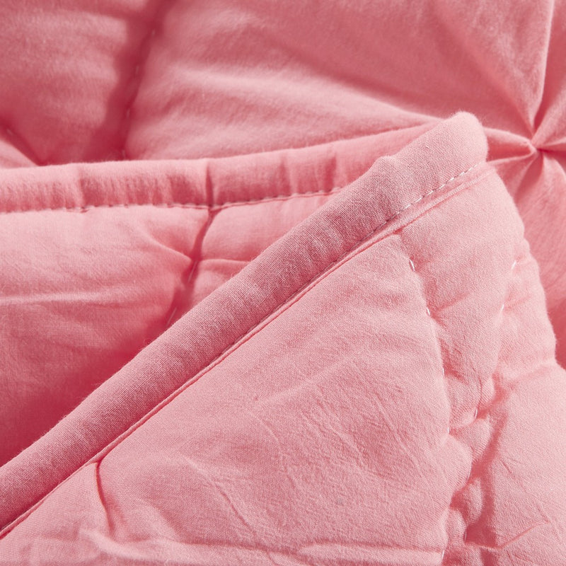 Dream Waltz Luxury Pure Cotton Cameo Pink Quilt - Calla Angel  - 4
