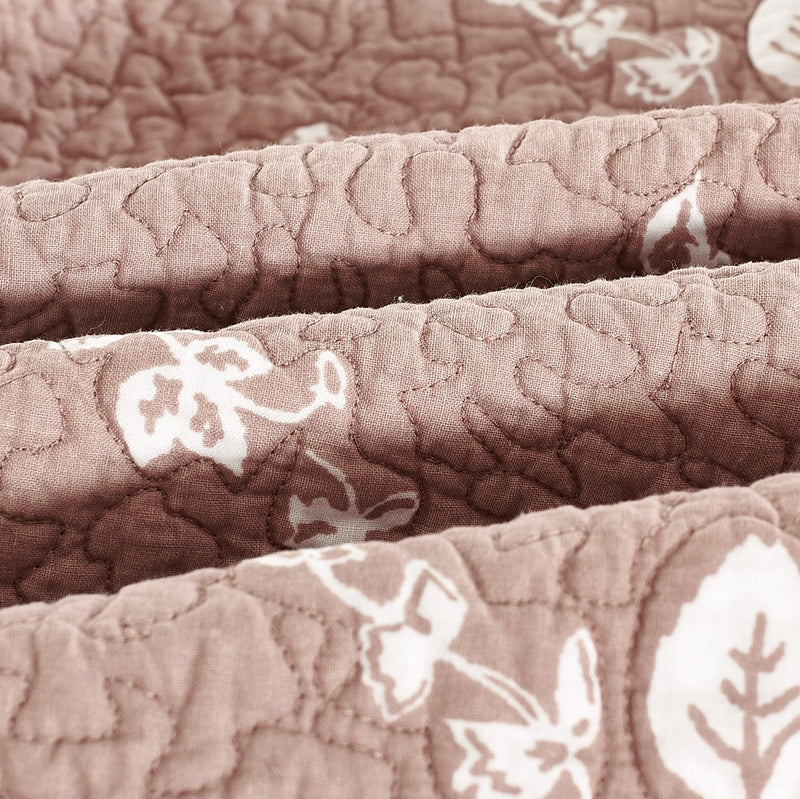 Rose Melody Luxury Hand Made Pure Cotton Marsala Quilt - Calla Angel  - 9