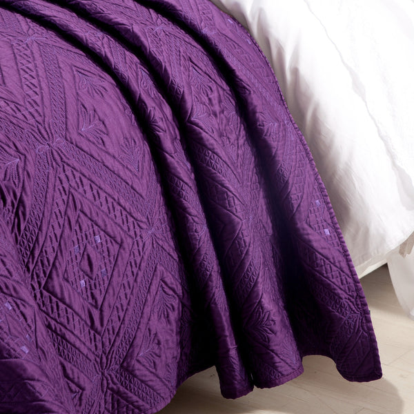 Fern Crystal Luxury Purple Quilt - Calla Angel  - 2