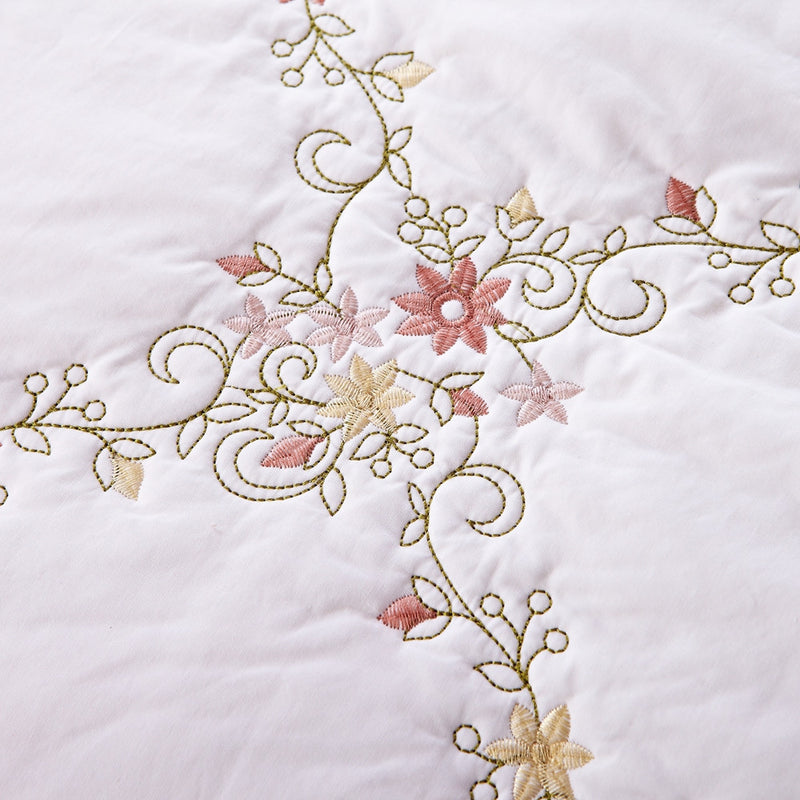 Orchard Mist Luxury White Quilt - Calla Angel  - 4