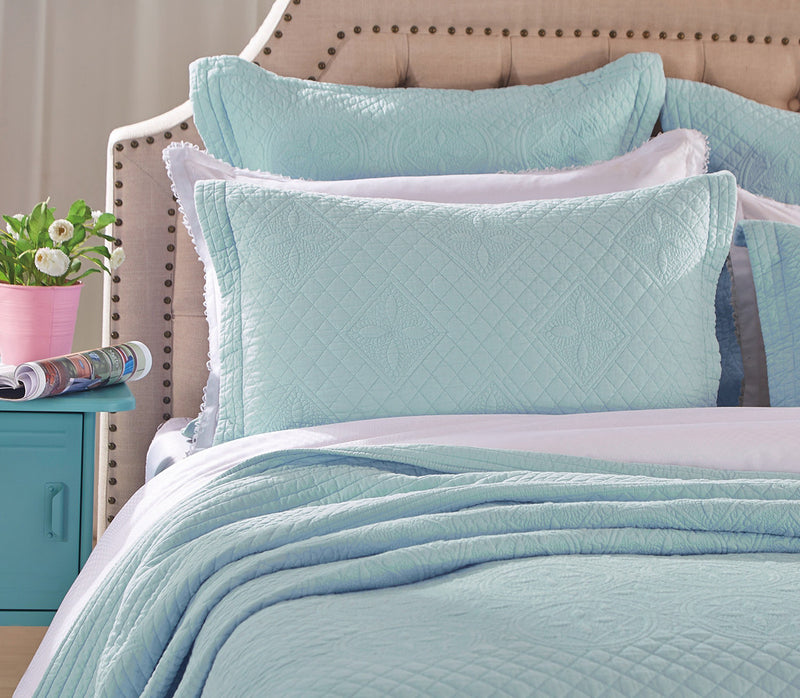 Saint Fountain Luxury Light Aqua Pillow Sham - Calla Angel  - 3