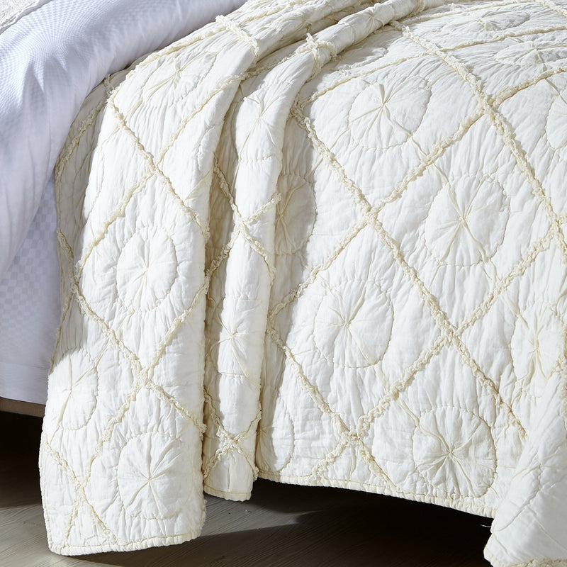 Country Idyl Luxury Ivory Quilt - Calla Angel  - 2