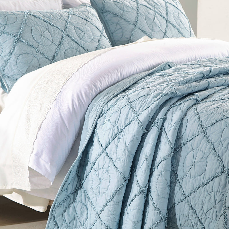 Country Idyl Luxury Pacific Blue Quilt - Calla Angel  - 2