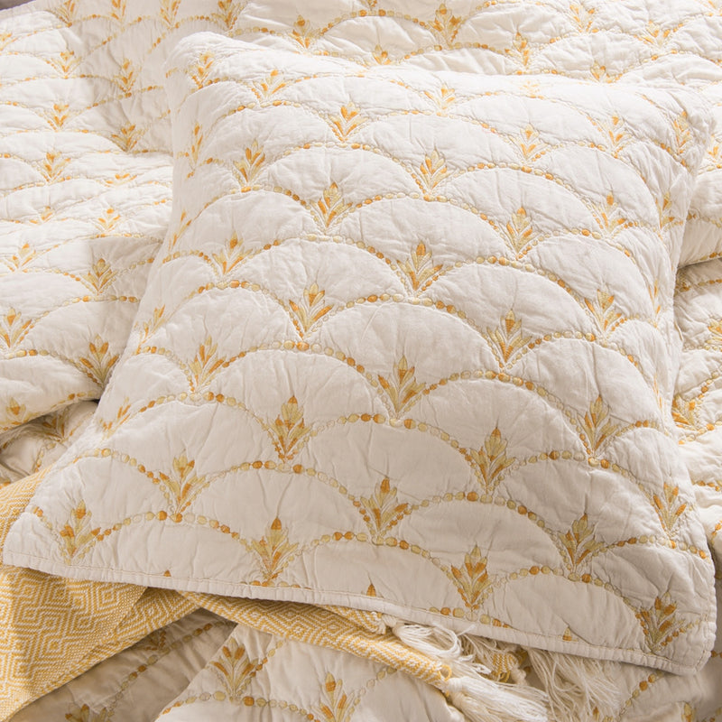 Rainbow Scale Luxury Ivory Pillow Sham - Calla Angel  - 7