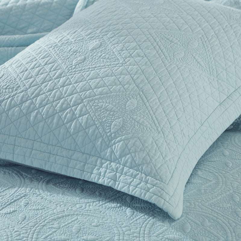 Saint Fountain Luxury Light Aqua Pillow Sham - Calla Angel  - 4