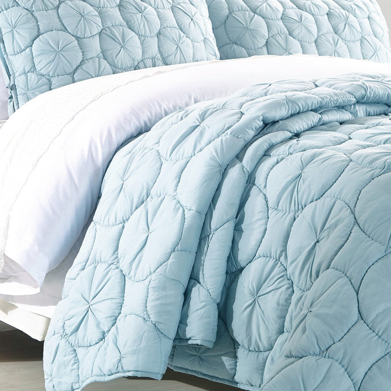 Dream Waltz Luxury Pacific Blue Quilt - Calla Angel  - 3