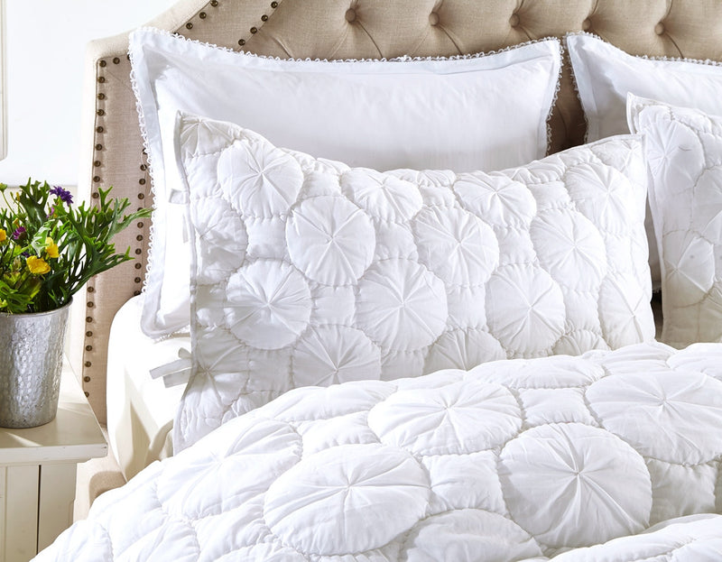 Dream Waltz Luxury White Pillow Sham - Calla Angel  - 4