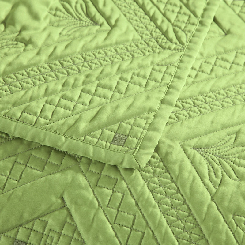 Fern Crystal Luxury Lime Quilt - Calla Angel  - 3