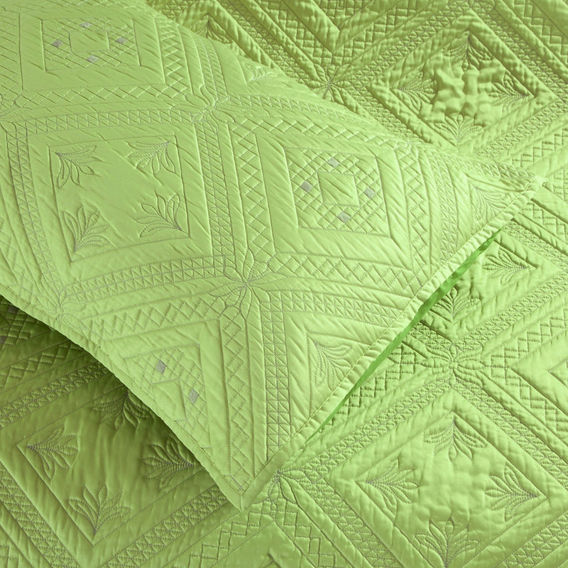 Fern Crystal Luxury Lime Pillow Sham - Calla Angel  - 5