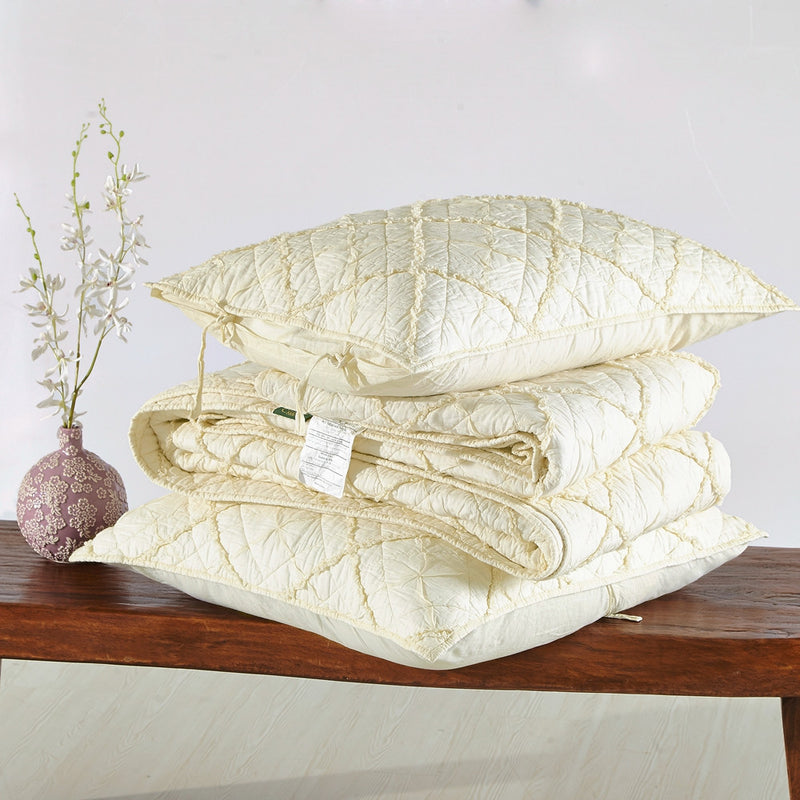 Diamond Applique Luxury Ivory Pillow Sham - Calla Angel  - 6