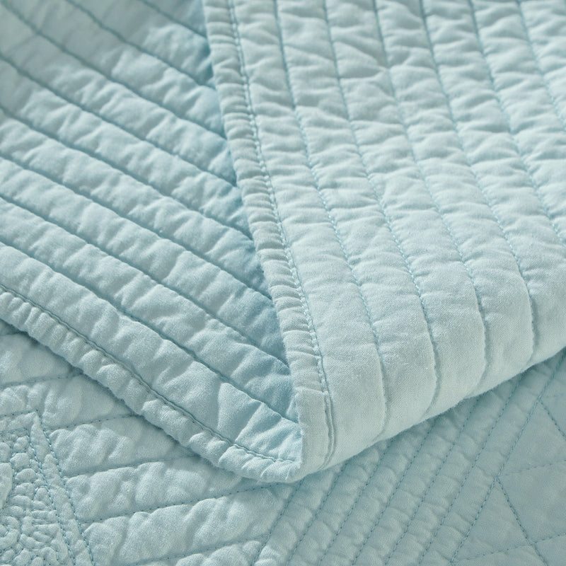 Saint Fountain Luxury Light Aqua Quilt - Calla Angel  - 4