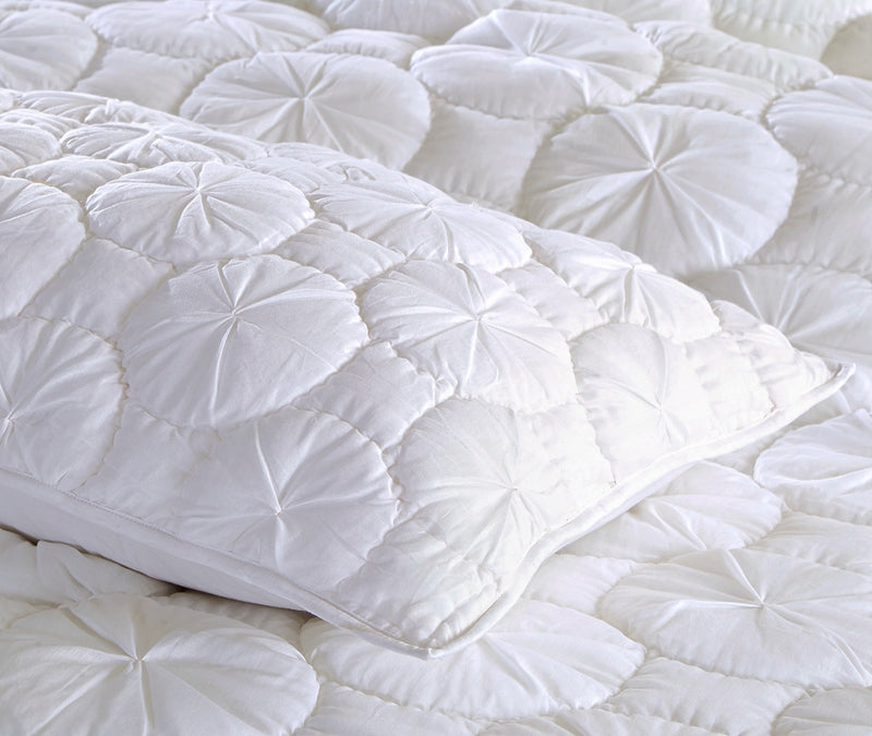 Dream Waltz Luxury White Pillow Sham - Calla Angel  - 5