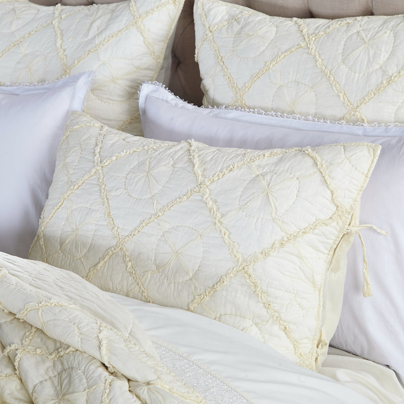 Country Idyl Luxury Ivory Pillow Sham - Calla Angel  - 6