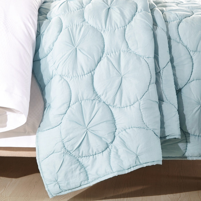 Dream Waltz Luxury Pacific Blue Quilt - Calla Angel  - 4