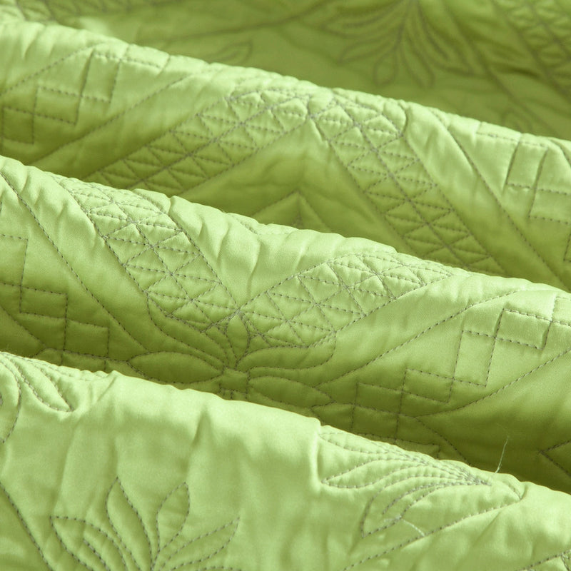 Fern Crystal Luxury Lime Quilt - Calla Angel  - 4