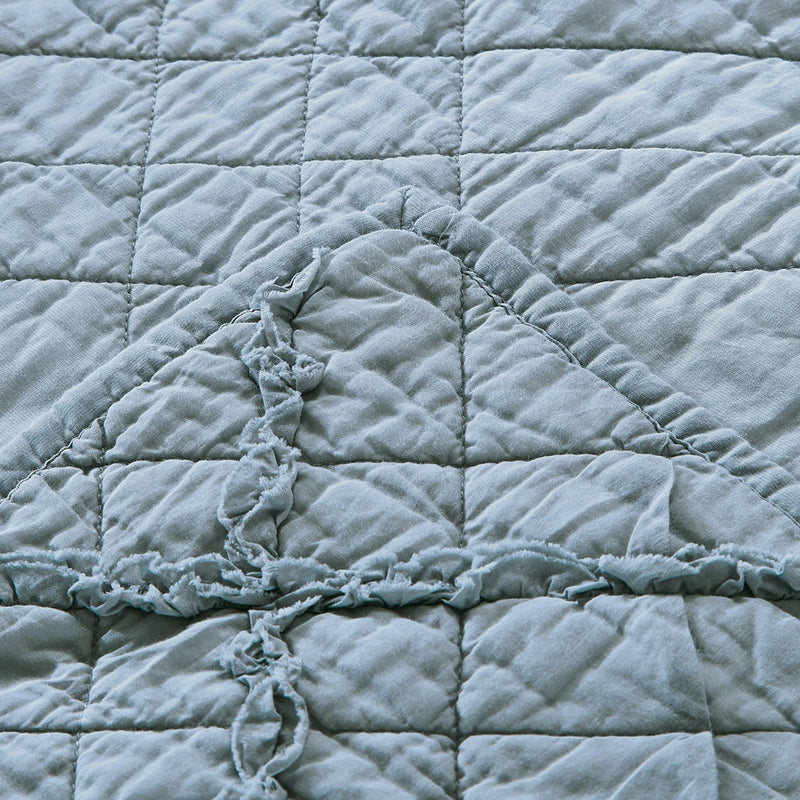 Diamond Applique Luxury Fog Quilt - Calla Angel  - 4