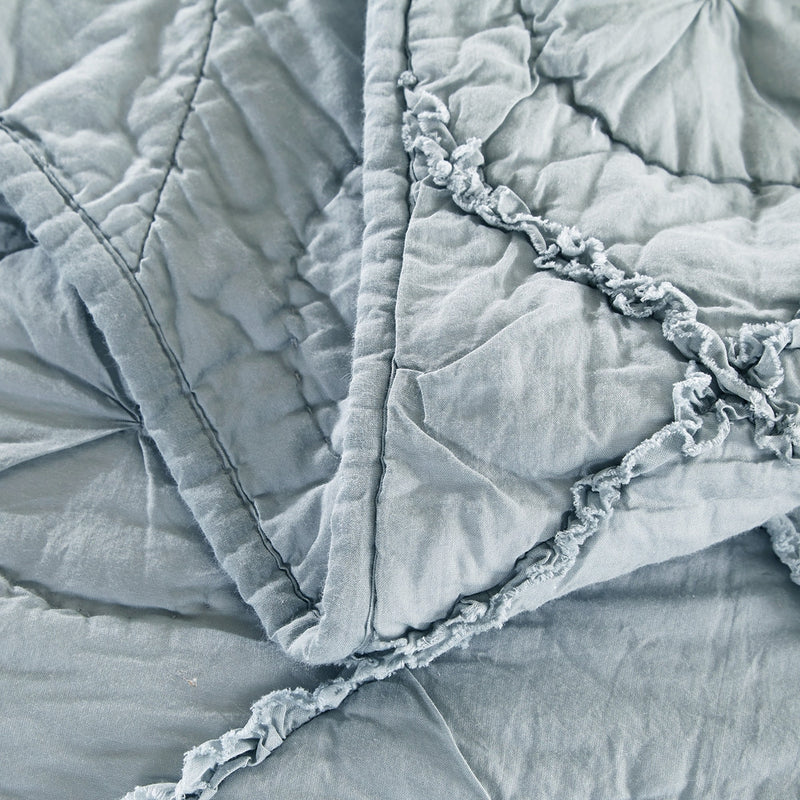 Country Idyl Luxury Fog Quilt - Calla Angel  - 7