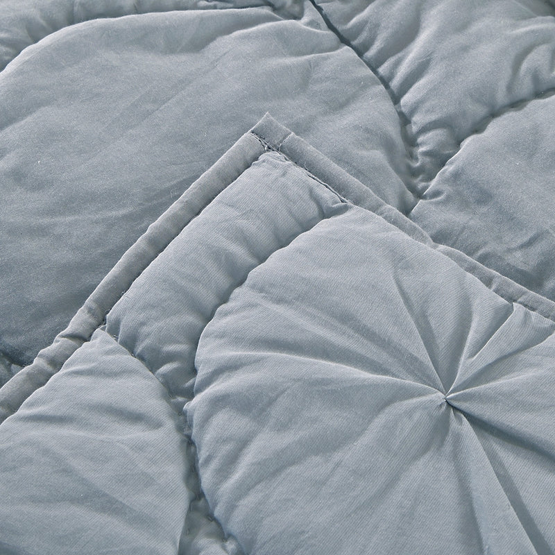 Dream Waltz Luxury Fog Quilt - Calla Angel  - 5
