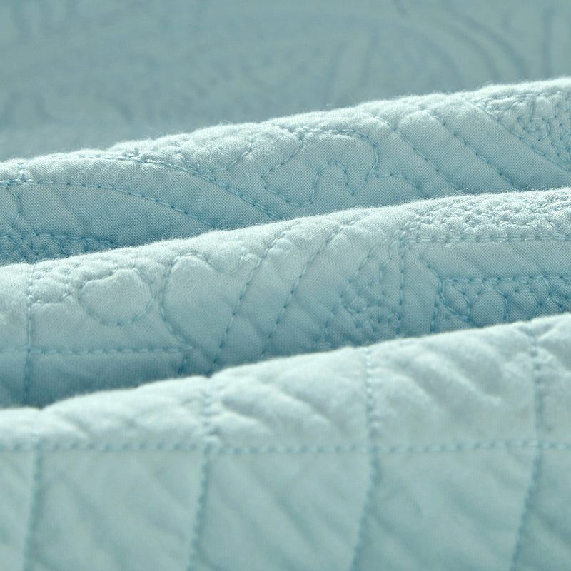 Saint Fountain Luxury Light Aqua Quilt - Calla Angel  - 5