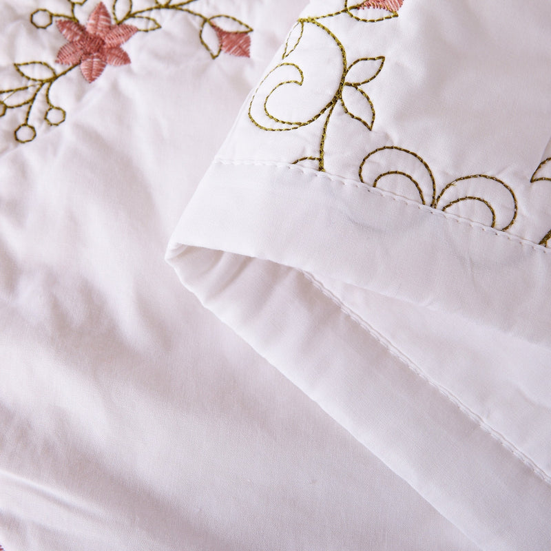 Orchard Mist Luxury White Quilt - Calla Angel  - 7