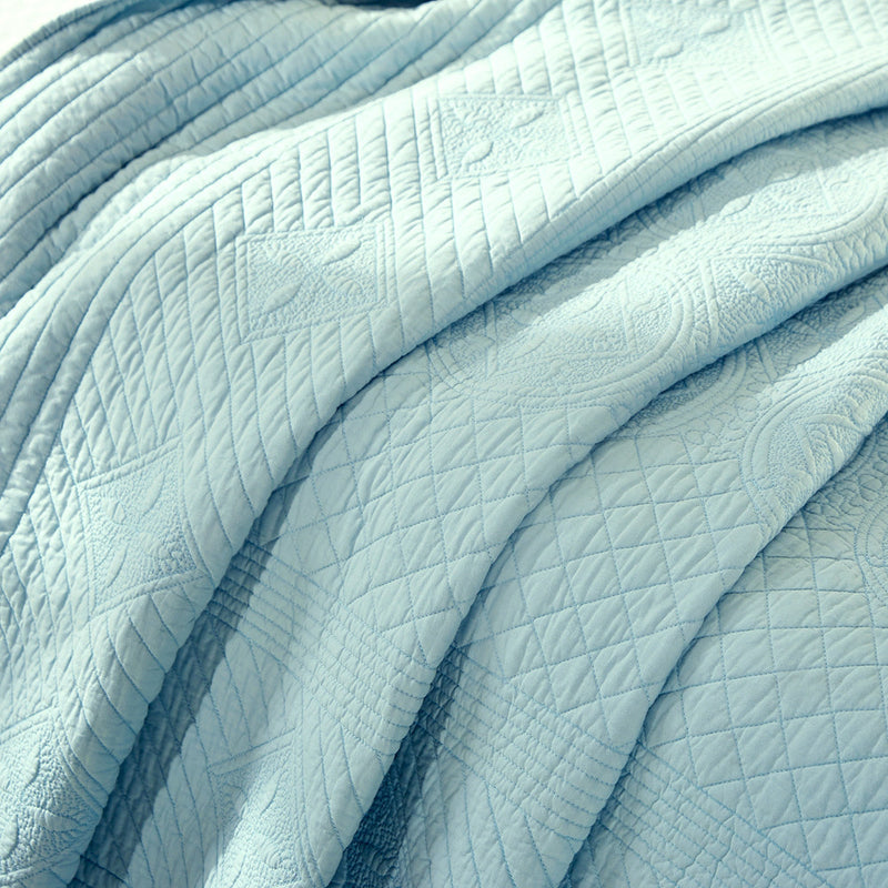 Saint Fountain Luxury Light Aqua Quilt - Calla Angel  - 6