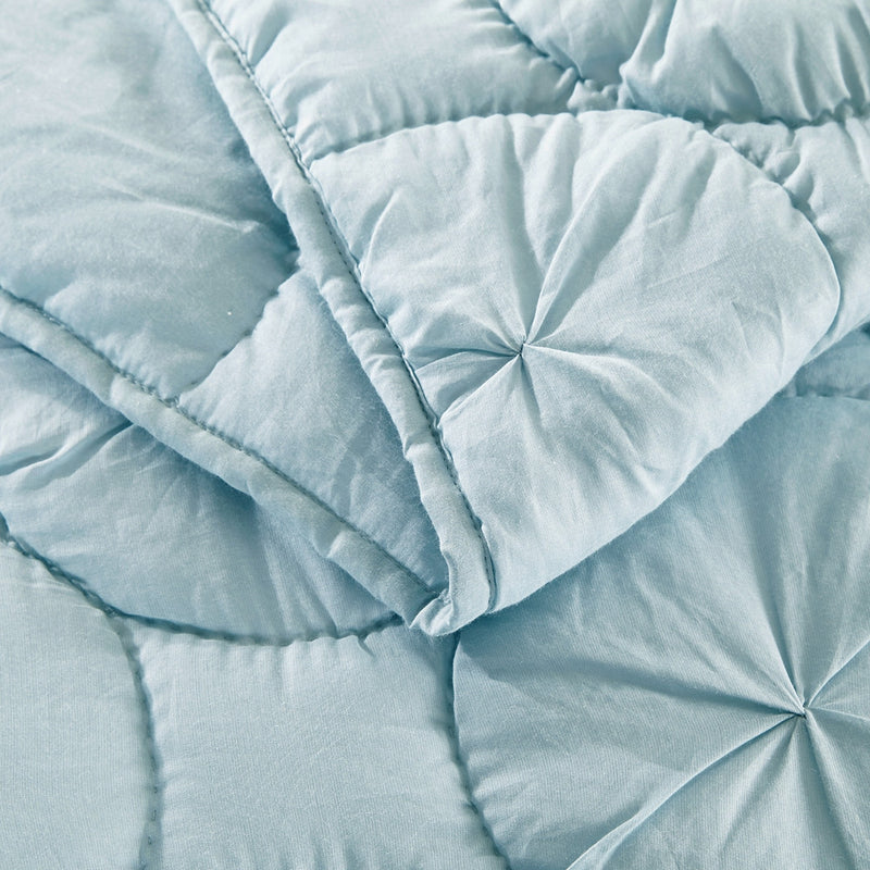 Dream Waltz Luxury Pacific Blue Quilt - Calla Angel  - 6