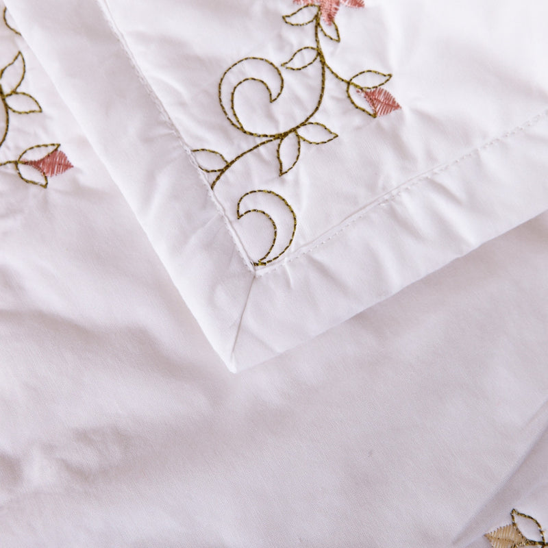 Orchard Mist Luxury White Quilt - Calla Angel  - 8