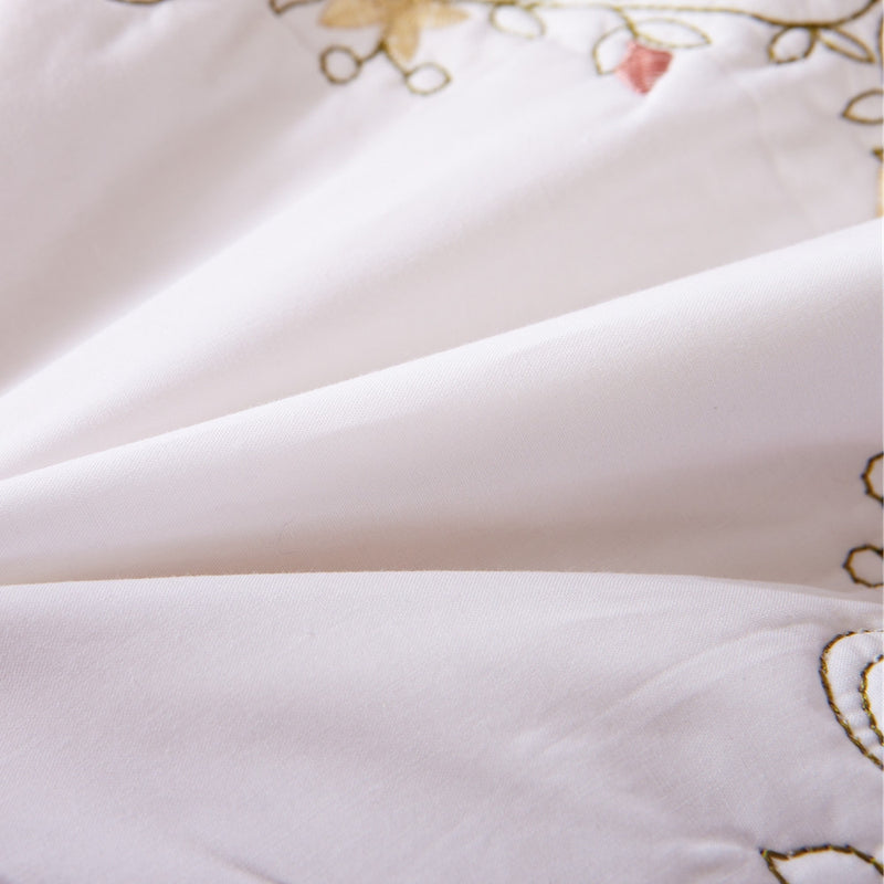 Orchard Mist Luxury White Quilt - Calla Angel  - 9