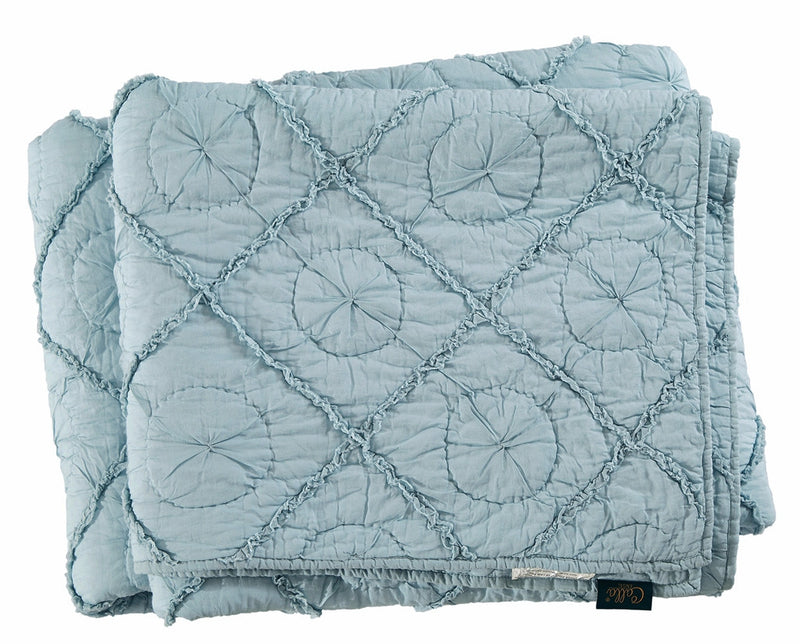 Country Idyl Luxury Pacific Blue Quilt - Calla Angel  - 7