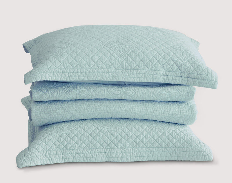 Saint Fountain Luxury Light Aqua Quilt - Calla Angel  - 7