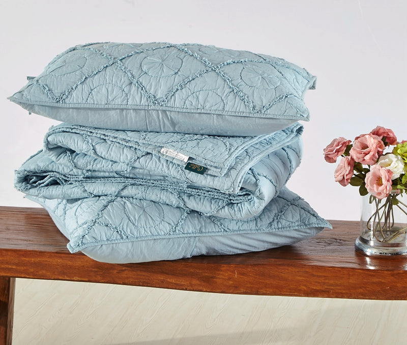 Country Idyl Luxury Pacific Blue Quilt - Calla Angel  - 8