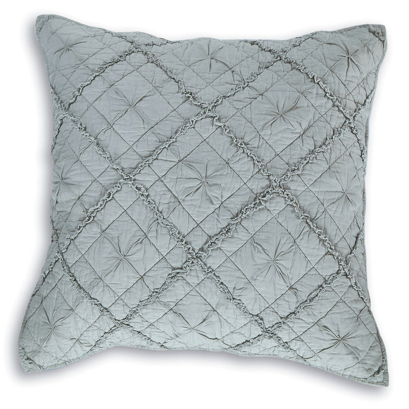 Diamond Applique Luxury Fog Pillow Sham - Calla Angel  - 4