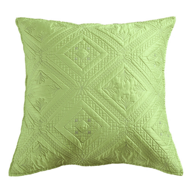 Fern Crystal Luxury Lime Pillow Sham - Calla Angel  - 4