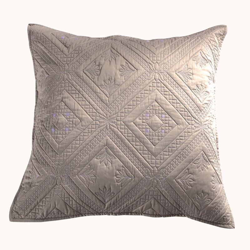 Fern Crystal Luxury Khaki Pillow Sham - Calla Angel  - 4
