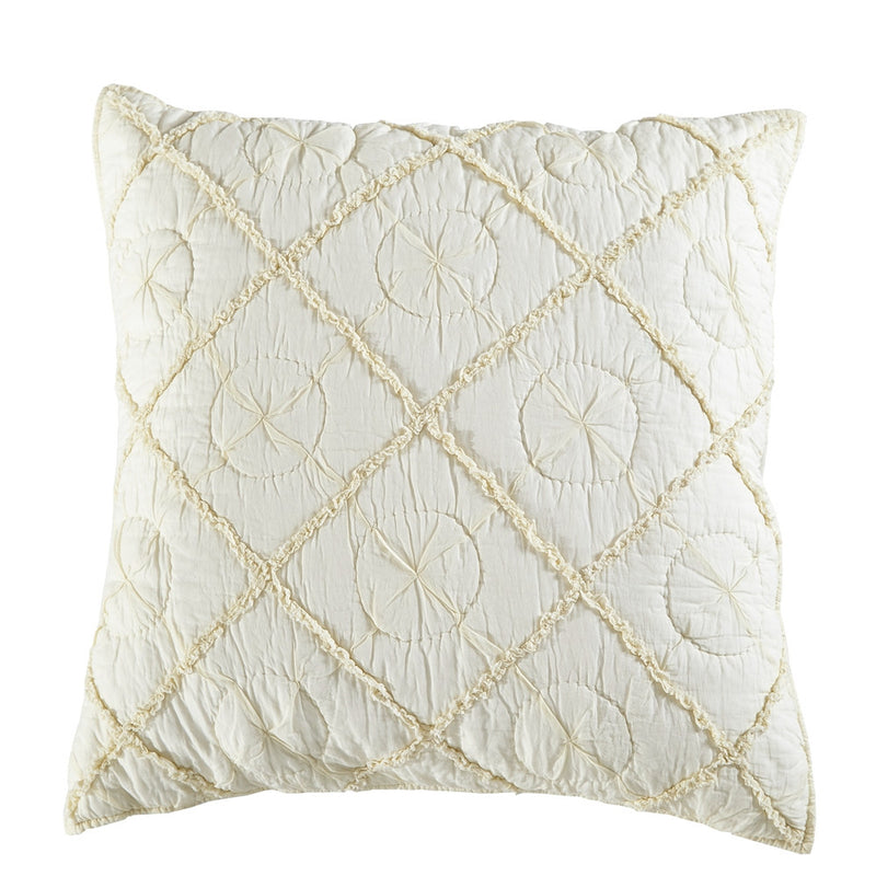 Country Idyl Luxury Ivory Pillow Sham - Calla Angel  - 4
