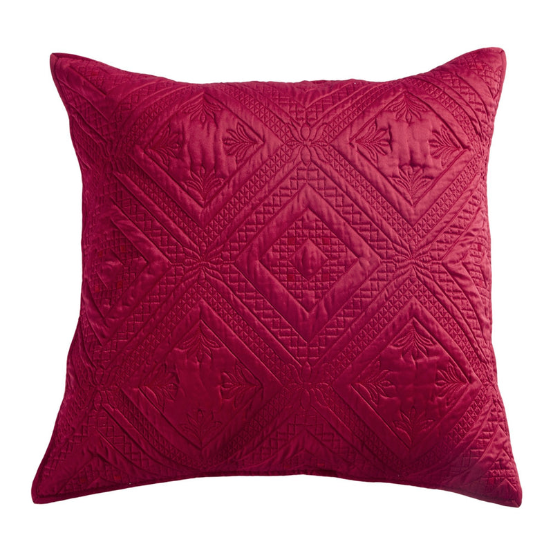 Fern Crystal Luxury Cherry Red Pillow Sham - Calla Angel  - 4