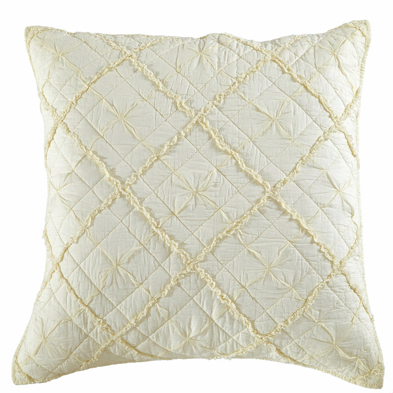 Diamond Applique Luxury Ivory Pillow Sham - Calla Angel  - 4