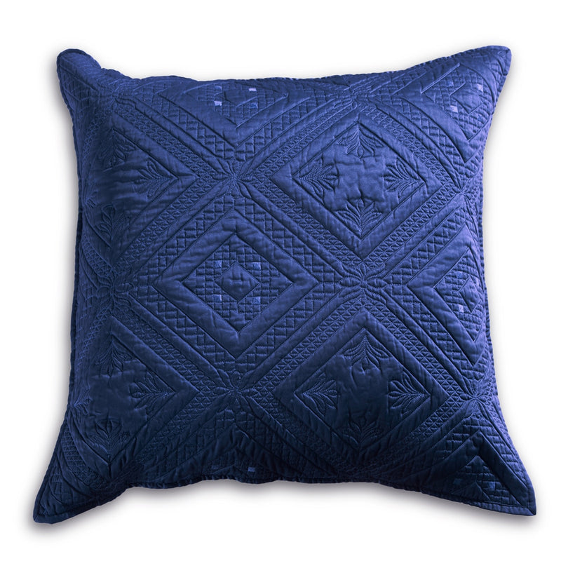 Fern Crystal Luxury Navy Blue Pillow Sham - Calla Angel  - 4