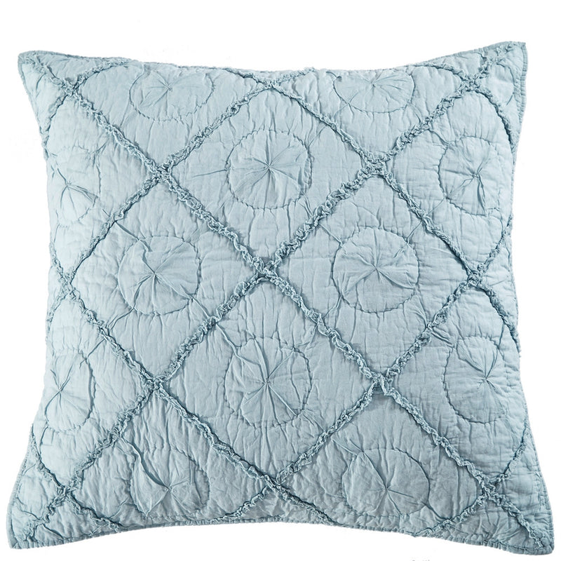 Country Idyl Luxury Pacific Blue Pillow Sham - Calla Angel  - 4