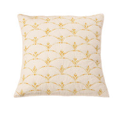 Rainbow Scale Luxury Ivory Pillow Sham - Calla Angel  - 4