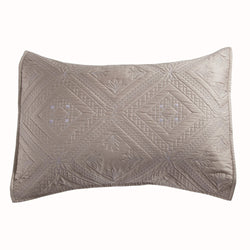 Fern Crystal Luxury Khaki Pillow Sham - Calla Angel  - 2