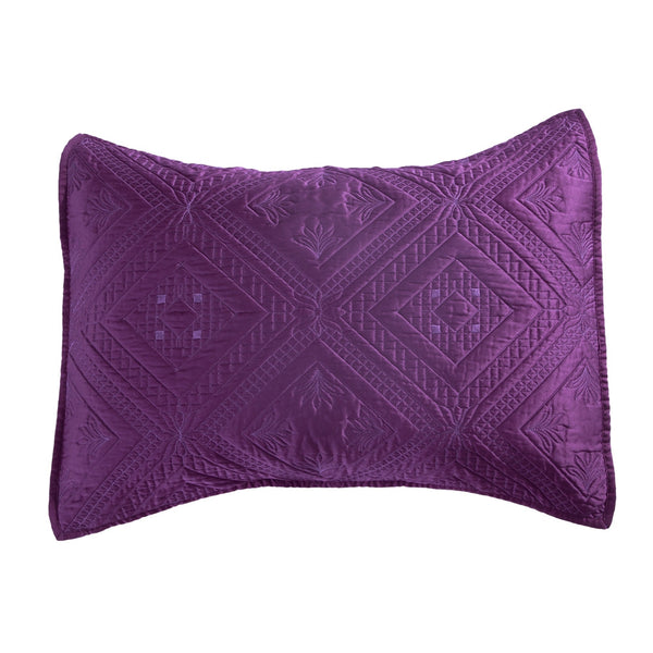 Fern Crystal Luxury Purple Pillow Sham - Calla Angel  - 2