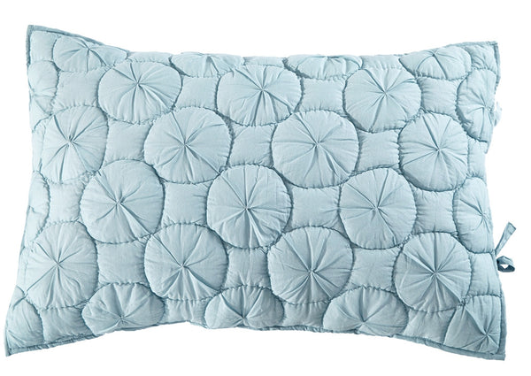 Dream Waltz Luxury Pacific Blue Pillow Sham - Calla Angel  - 2